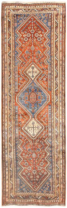 Antique Persian Ghashghai Runner Rug 50415