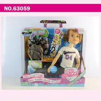 63059 Ginni doll 18 inch fashion boy doll with diary plastic doll