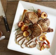 Grilled Country Pork Chops with Bourbon-Basted Grilled Peaches http ...