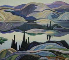 Mirror Lake Franklin Carmichael Group of Seven Group Of Seven Artists, Group Of Seven Paintings, Painting Inspiration, Art Inspo, Landscape Art Quilts, Landscapes, Tom Thomson, Maurice Denis, Gauguin