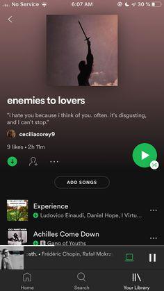 enemies to lovers on spotify