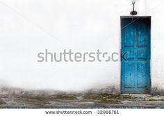 Google Image Result for http://image.shutterstock.com/display_pic_with_logo/414946/414946,1246464760,2/stock-photo-white-wall-with-blue-door-32966761.jpg
