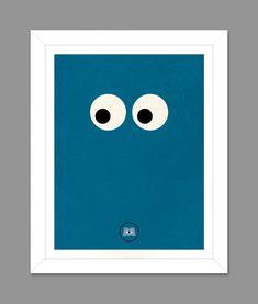 Digital Download Monsters Inc. Sully Big Eye Poster Art Nursery Art Print, Walt Disney Monster's Inc. Nursery Art Boys Room - 8x10 or 11x14 on Etsy, $5.00
