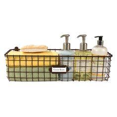 Spectrum® Vintage Small Wall Mount Basket in Bronze Spice Bottles, Metal Baskets, Grid Design, Storage Baskets, Storage Ideas, Organization Ideas, Vintage Walls, Washing Clothes, Wall Mount