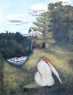 Sima, Josef - Le désespoir d'Orphée, Surrealism, Oil on canvas, Mythology