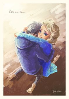 Jack Frost and Elsa - The sweet embrace