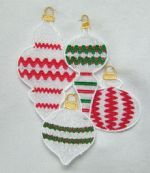 Free Standing Lace Rickrack Ornaments