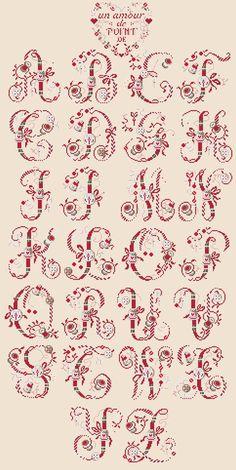 Cross stitch / Point de croix / Punto de cruz / Punto croce - alphabet / abécédaire / abecedario / alfabeto - La boite de la brodeuse by Les Brodeuses Parisiennes