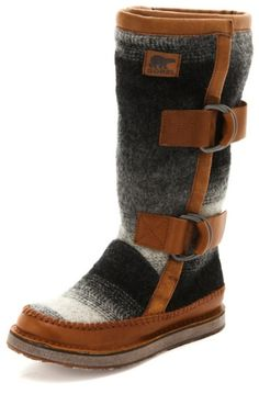 Sorel Gray Chipahko Blanket Boots. I own these and get so many complements on them.
