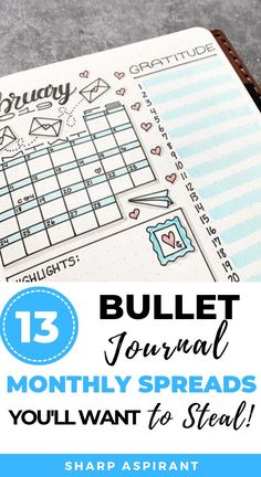 Need more inspiration for your next BuJo monthly spread? Check out these 13 Bullet Journal Monthly Spread Ideas That Are Incredibly Stunning! Bullet Journal Contents, Bullet Journal Notebook, Bullet Journal Hacks, Bullet Journal Layout, Bujo Monthly Spread, Bullet Journal Monthly Spread, Journal Inspiration, Journal Ideas, Tombow Pens