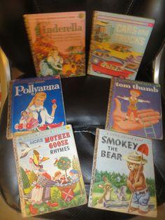 Vintage LG Books Cinderella Cars Trucks Tom Thumb Pollyanna Smokey Mother Goose by HolySerendipity on Etsy