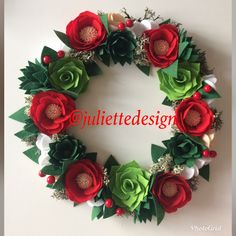 A personal favorite from my Etsy shop https://www.etsy.com/listing/558576736/christmas-wreath-holiday-wreath