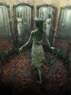 Mirror - Illustrations by Andrew Ferez  <3 <3