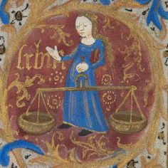 Zodiac sign of Libra in a 15th century manuscript -photo by Rromir Imami | Flickr