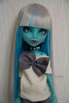 Monster High LORNA McNessie Custom OOAK repaint Remi  #Unbranded #DollswithClothingAccessories