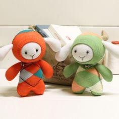 坚果原创手工玩偶 豆丁兔 DIY袜子娃娃材料包 多色可选