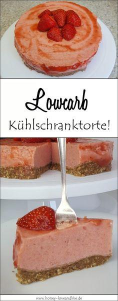 So machst du einen Lowcarb Erdbeerkuchen ohne backen #lowcarb #Kühlschranktorte #backen Eat Smart, Meal Prep, Cheesecake, Desserts, Meals, Cooking, Food, Diets, Muffins