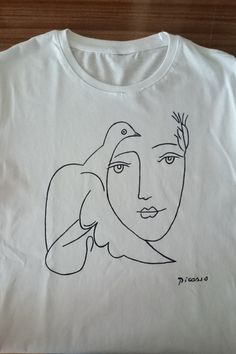 100% cotton fabric. White shirts are not see through. The design is 100% hand drawn, painted with fabric paint. Machine friendly! Colors wont go