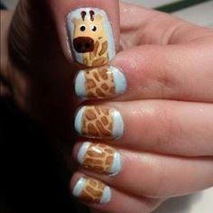giraffe nail designs