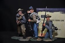 BRITAINS 17102 CONFEDERATE FIRING LINE METAL TOY SOLDIER FIGURE SET