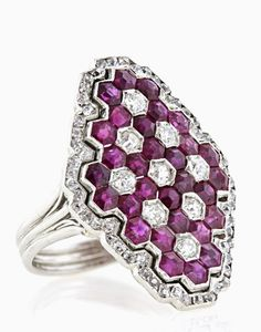 Magnificent Art Deco Ruby and Diamond Ring Custom Make vintage jewelry on Morpheus! www.morphe.us.com