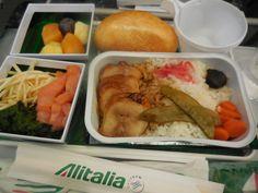 ローマを出発してからの機内食@アリタリア
