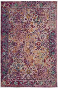 Crystal area rugs by Safavieh showcase the newest trend in transitionally styled floor coverings with marvelous clarity of design, brilliant colors and an heirloom look of antiquity. The zero-pile construction of Crystal imparts distinctive. Rugs For Less, Crystal Collection, Duffy, Persian Carpet, Power Loom, Rugs Online, Colorful Rugs, Carpet Runner, Bohemian Rug