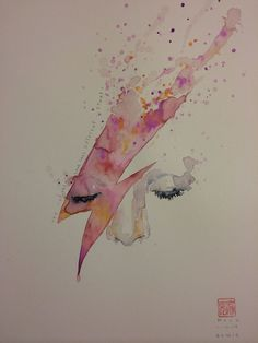 Watercolor Stardust - Incredible and Touching David Bowie Tattoos That Prove Ziggy Stardust Lives On - Photos David Bowie Tattoo, David Bowie Art, Rock Roll, David Mack, Ziggy Played Guitar, Major Tom, Ziggy Stardust, Lady Stardust, Art Inspo