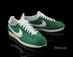 Nike Cortez Nylon - Green / White - Yellow
