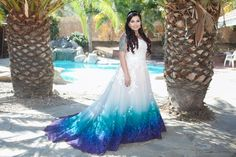 Beautiful Tie Dye Wedding Dress