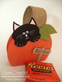 Trick Or Treat Halloween Kitty In A Pumpkin Box