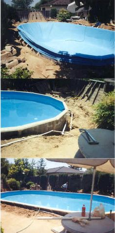 Having a pool sounds awesome especially if you are working with the best backyard pool landscaping ideas there is. How you design a proper backyard with a pool matters. Best Above Ground Pool, In Ground Pools, Diy In Ground Pool, Piscinas Gre, Piscina Intex, Ideas De Piscina, Pool Garden, Above Ground Pool Landscaping, Deck Landscaping
