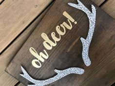 Oh Deer  Antlers  String Art  11x17in   can be customized