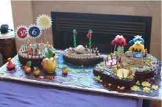 Pikmin cake!  Fabulous idea for Ada's 7th birthday party . . . if I hire a professional to do it.