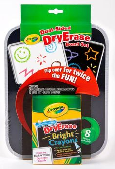 Crayola Dual Sided Dry Erase Board has double the surface to double the fun! The versatile Crayola Dual-Sided Dry-Erase Board has a Tableau Double Face, Free Coloring, Coloring Books, Crayola Toys, Crayon Set, Board For Kids, Color Crayons, Book Markers, Wipe Away