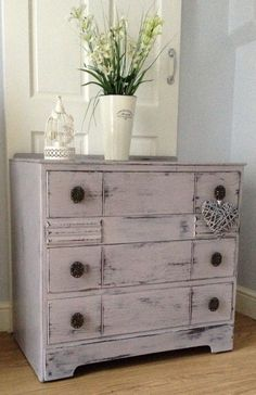 Chest of Drawers in Annie Sloan Paloma.