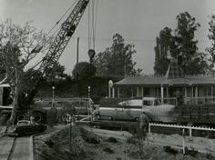 Viewliner construction near the Fantasyland Depot (where Small World is today).