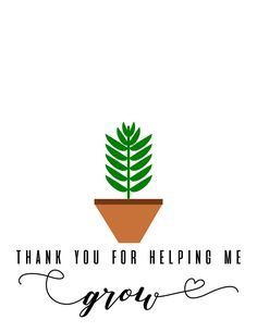 Prestyn finished up his first year of preschool this week so we made his teachers this thank you for helping me grow. I used these paint daubers to color his hand for the handprint. Thank You Quotes For Helping, Thank You Notes, Thank You Gifts, Free Printable Quotes, Printable Thank You Cards, Free Printables, Teacher Thank You Cards, Teacher Gifts, Teacher Appreciation Quotes
