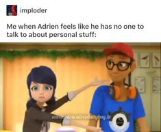 Nino wins the award for best bro and Alya wins the award for best wing girl. It makes sense that they're a couple Ladybug Comics, Miraclous Ladybug, I Have A Secret, When Things Go Wrong, Miraculous Ladybug Fan Art, Marinette And Adrien, Bugaboo, Kids Shows, The Villain