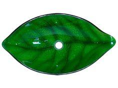 Green Leaf Shaped Vessel Sink $199