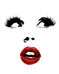 This item is unavailable - Fashion Printable Print Fashion Illustration by CHICxBOUTIQ - Pop Art Drawing, Art Drawings, Drawing Faces, Fashion Wall Art, Fashion Prints, Style Fashion, Mode Poster, Lashes Logo, Illustrator