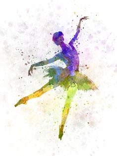 woman ballerina ballet dancer dancing Art Print
