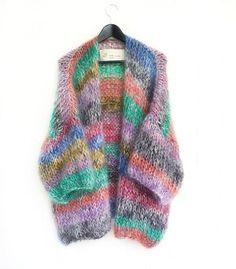 The knit cardigan #ewithlove #colormix #stripes #allunique #alwaysdifferent #fashionknitwear #handmade #❤