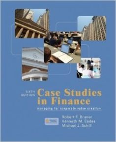 Case studies in finance bruner solutions manual