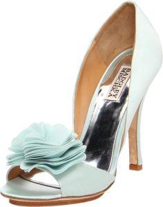 GORGEOUS Badgley Mischka #wedding #shoes #bride #weddingshoes #brideshoes #blue #bluewedding #bluebride #blueshoes #somethingblue #rose #cute #notmine #piperstudios
