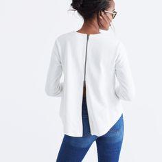 Comeback Zip-Back Top : tops & blouses | Madewell