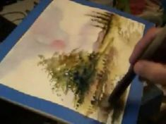 Acuarela Rapida 15 X 18 a tres colores - Fast Watercolor using just three colors - YouTube