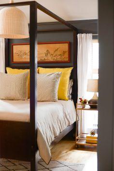 love this bedding / color scheme via Simple Lovely: Our Casa...