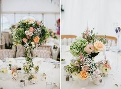 Flowers & centrepieces by Seventh Heaven Events - Wedding at Gants Mill #seventhheavenevents