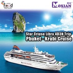 MO-Shake Prizes | Guys, Star Cruises Libra 4D3N Trip Phuket - Krabi for 2 Person!! Grab this opportunity while you still can!! Visit our Moxian booth at Asia Food Festival Penang to get this coolest prizes!!